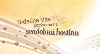 pozvanie na svadobnú hostinu