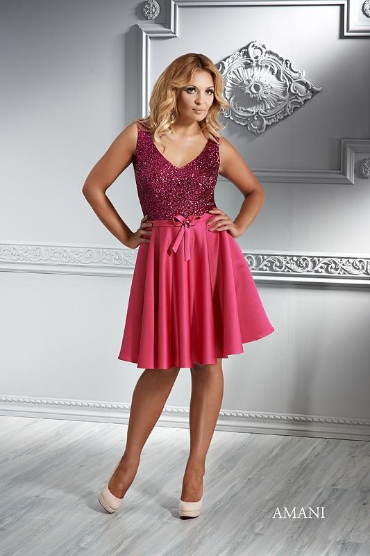 EMMI MARIAGE - koktejlové šaty XL - AMANI