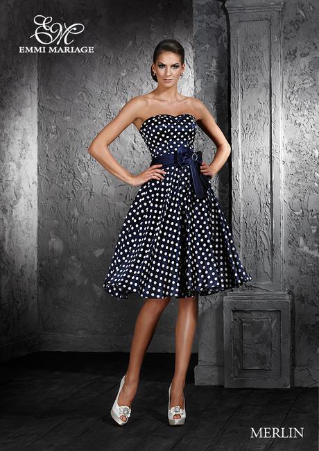 Společenské šaty MERLIN s puntíky  - Obrázek č. 1