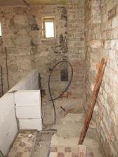 črtá sa WC a pred ním malá chodbička