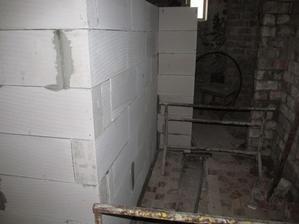 pohľad z chodby na WC