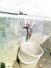 a už máme vodu vyvedenú aj na dvor... :)