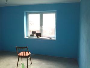 prvý pokus o peknú modrú do synovej izbičky... nevyšiel...bola príliš tmavá...