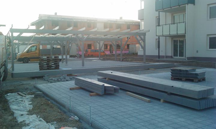 Kittsee Steinfeldsiedlung 18.10.2011 - staviame parkplatz