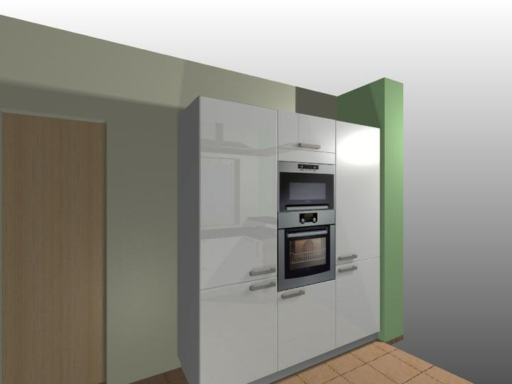 Inšpirácie - na druhej strane kuchyne vstavane spotrebice a vchod do komory