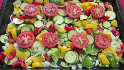 zelenina připravená na gril
