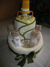 """plenkový """"dort"""" pro kamarádku, resp. pro její miminko :-)"""