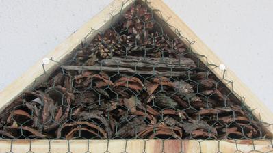 podkroví - borová kůra a šišky