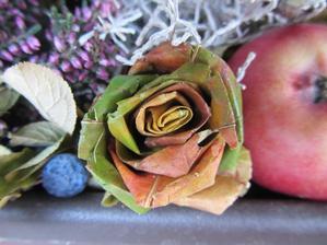 umotala jsem svou první růži z listí