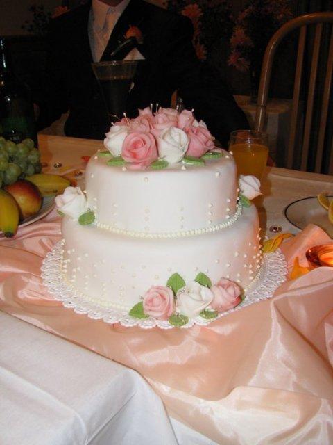 Miška{{_AND_}}Robko - svadobná torta