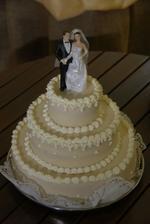 krásný dortík pro novomanžele