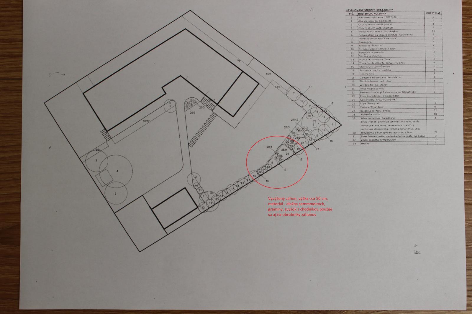 Exteriér - záhrada - Návrh