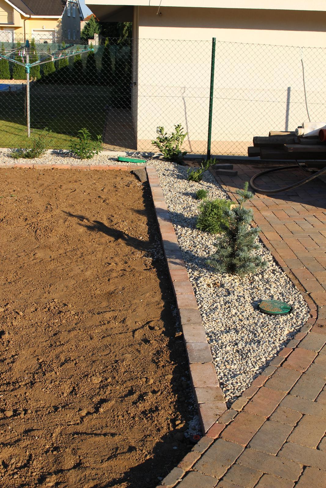 Exteriér - záhrada - To malé vpredu je budúci vonkajší vianočný stromček - jedlička