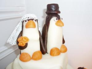 detail - všechno kromě závoje nevěsty tučňáka bylo jedlé a naprosto výborné