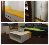 Žlutobílý nábytek,