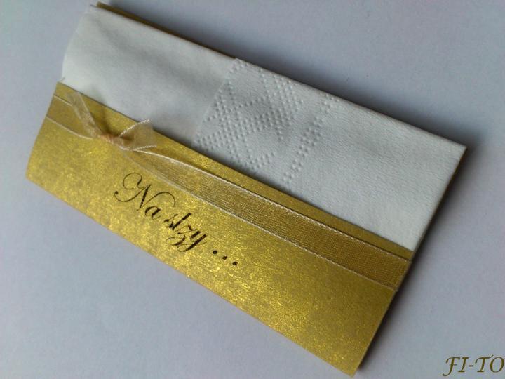 Svatební doplňky v barvě zlata - Kapesníčky na slzičky - s výběrem nápisů