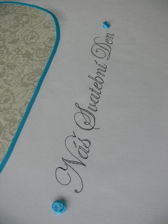 Svatební doplňky v barvě nebe - Svatební dvojbryndák - do barvičky