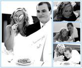 Krásná fotka novomanželů s bryndáčkem (děkujeme za zapůjčení fotečky na náš profil)