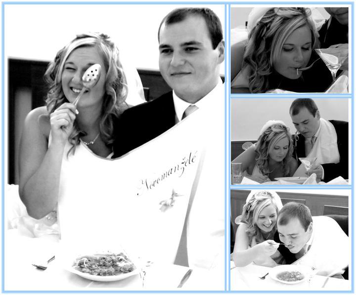fi_to - Krásná fotka novomanželů s bryndáčkem (děkujeme za zapůjčení fotečky na náš profil)