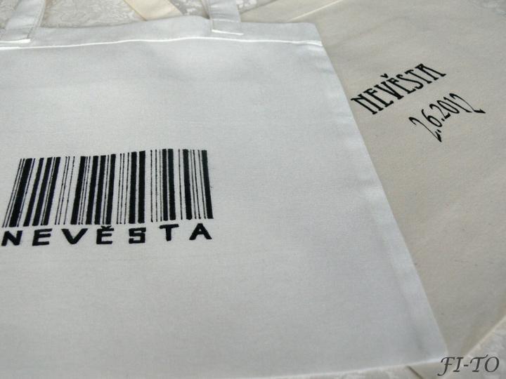Svatební doplňky v barvě zlata - Taška na nákupy speciálně pro nevěstu ♥