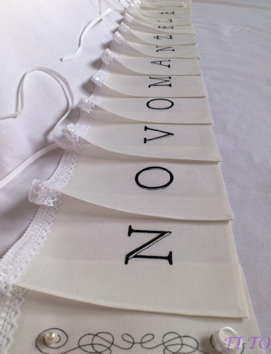 Svatební doplňky v barvě bílo černé - Obrázek č. 11