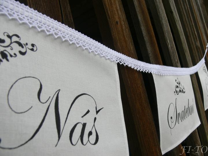 Svatební doplňky v barvě bílo černé - Obrázek č. 8