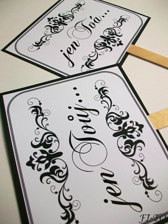 Svatební doplňky v barvě bílo černé - Obrázek č. 12