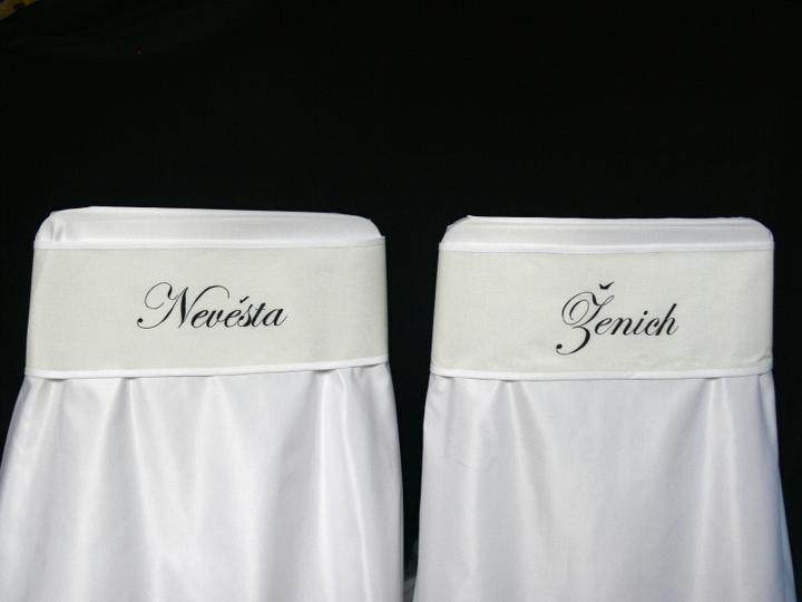 Svatební doplňky v barvě bílo černé - Obrázek č. 15