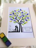 Svatební strom s motýly,