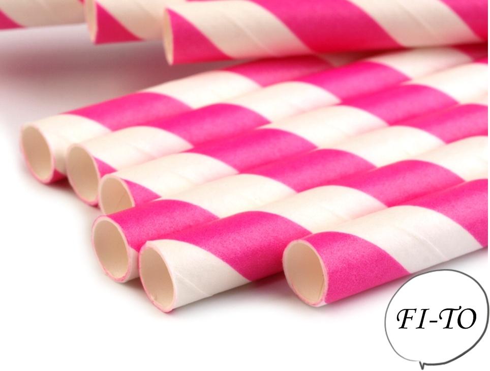 Papírová brčka délka 19cm - Obrázek č. 1