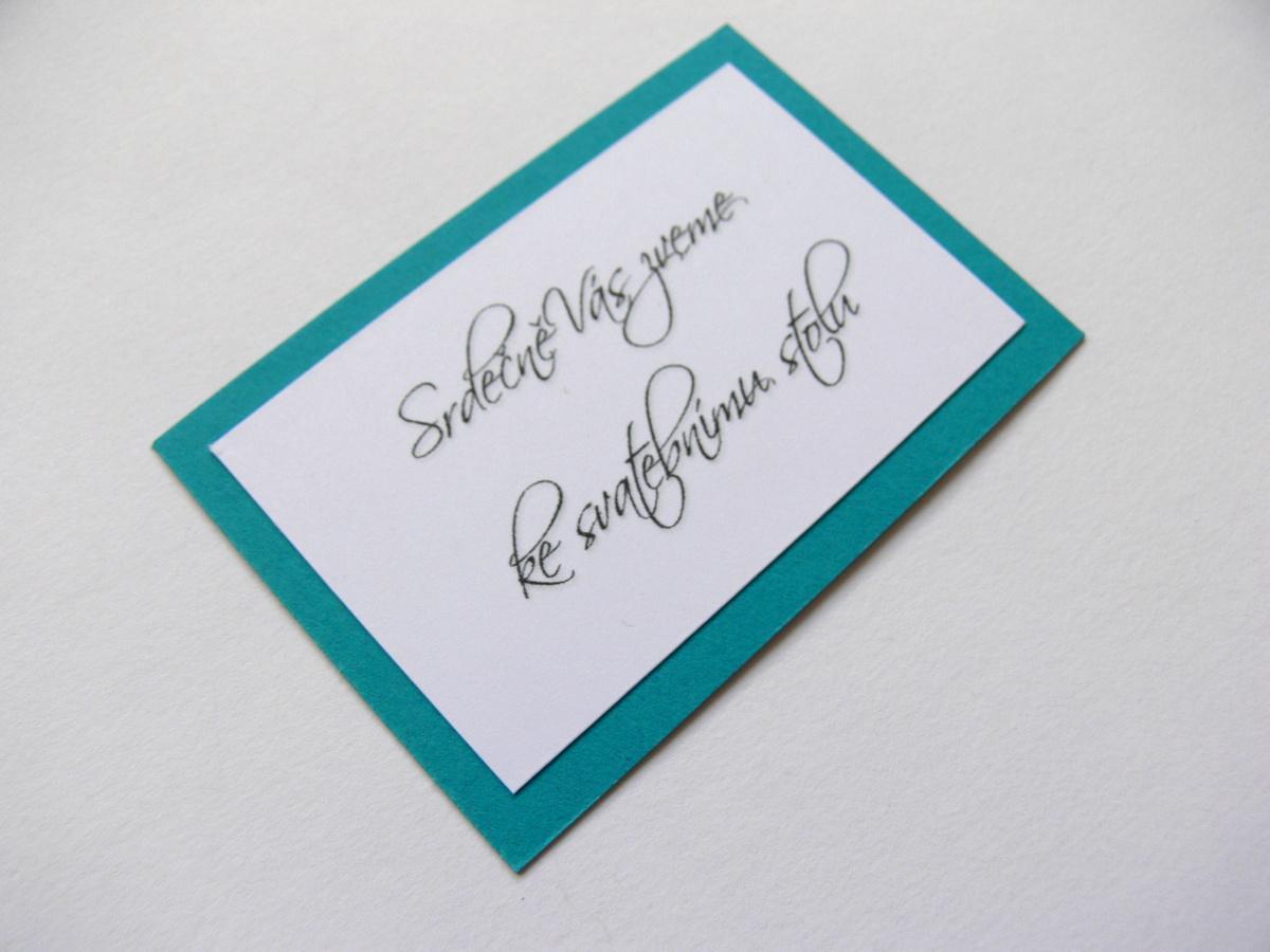 Pozvání ke stolu kartička - Obrázek č. 2