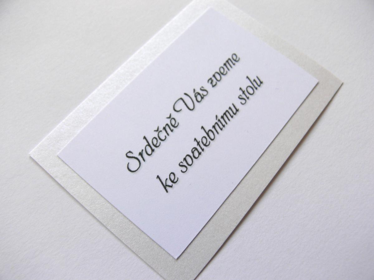 Pozvání ke stolu kartička - Obrázek č. 3