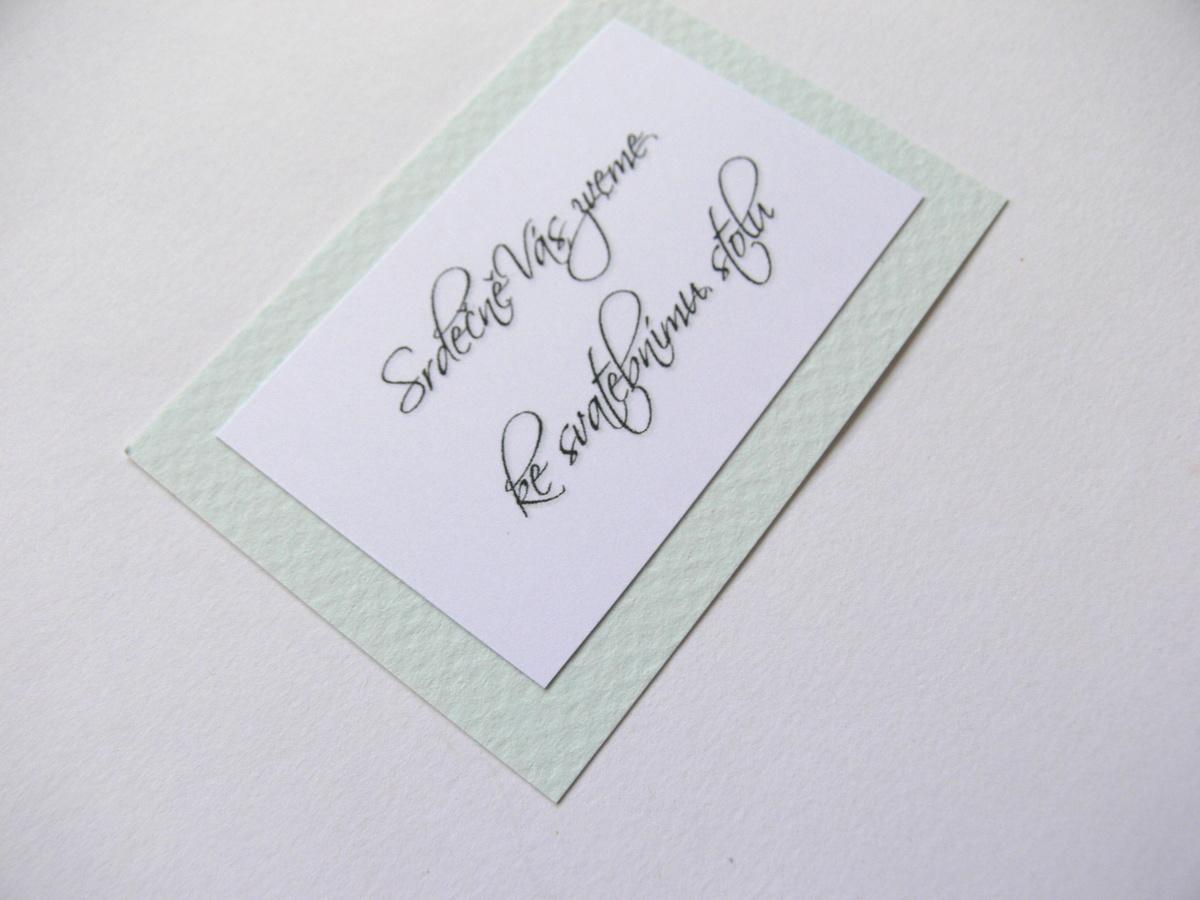 Pozvání ke stolu kartička - Obrázek č. 4