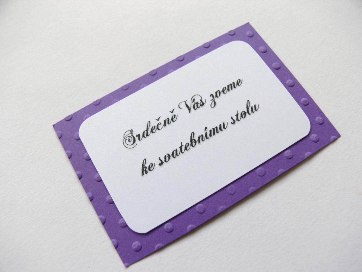 Pozvání ke stolu kartička - Obrázek č. 1