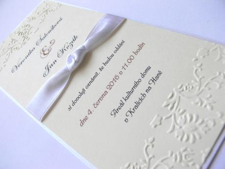 Svatební oznámení s uzlíkem - Obrázek č. 1