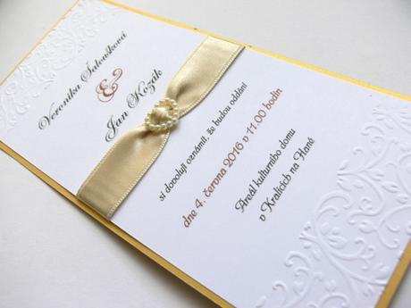 Svatební oznámení se srdíčkem - Obrázek č. 1
