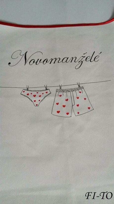 Bryndák pro novomanžele prádlová šňůra - Obrázek č. 2