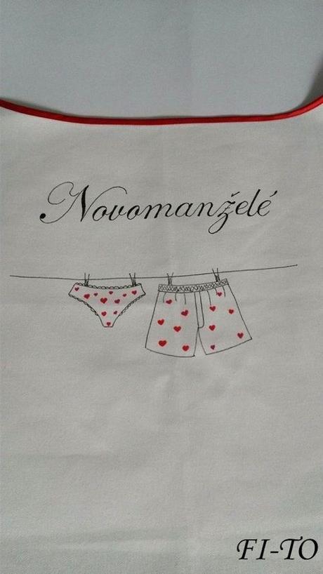 Bryndák pro novomanžele prádlová šňůra - Obrázek č. 3