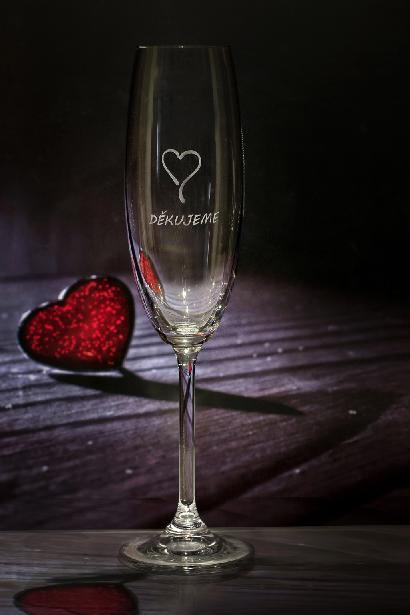 Svatební sklenice děkujeme - Obrázek č. 1