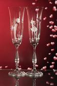 Svatební sklenice novomanželé,