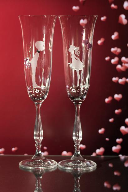 Svatební sklenice novomanželé - Obrázek č. 1