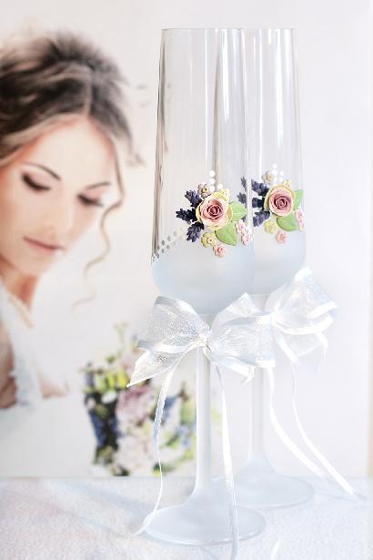 Svatební sklenice s polymerem - Obrázek č. 1