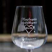 Svatební sklenice poděkování,