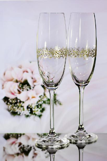 Svatební sklenice ornament - Obrázek č. 1