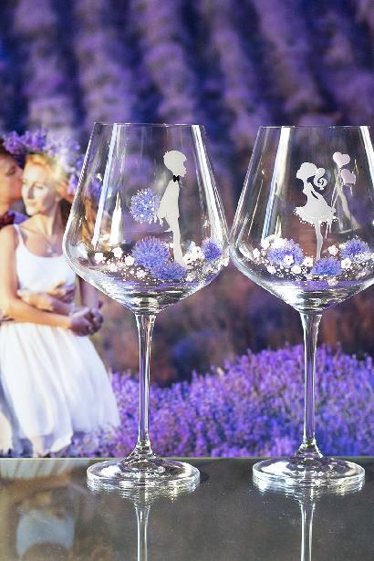 Svatební sklenice levandule - Obrázek č. 1