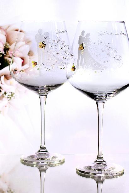 Svatební sklenice pár - Obrázek č. 1