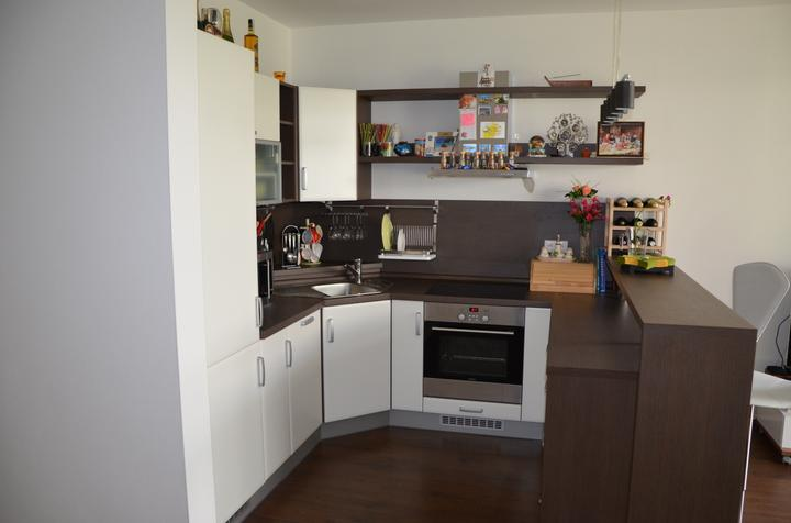 kuchyneprekazdeho - Dvierka-biela koženka, korpus-woodline mocca