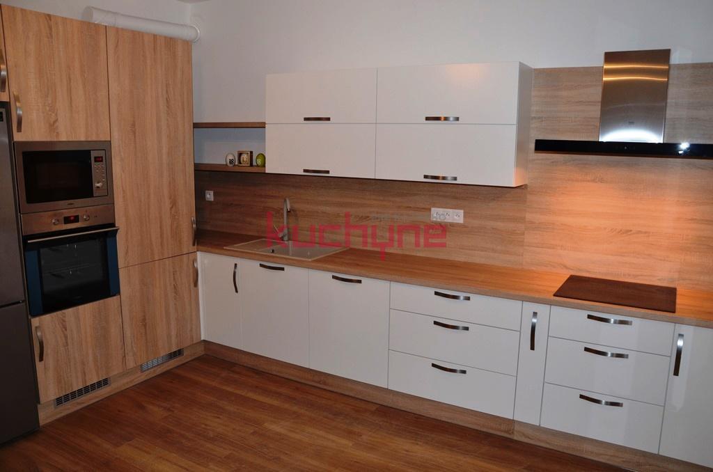 kuchyneprekazdeho - Dvierka-koženka+dub bardolino, korpus-biely+dub bardolino