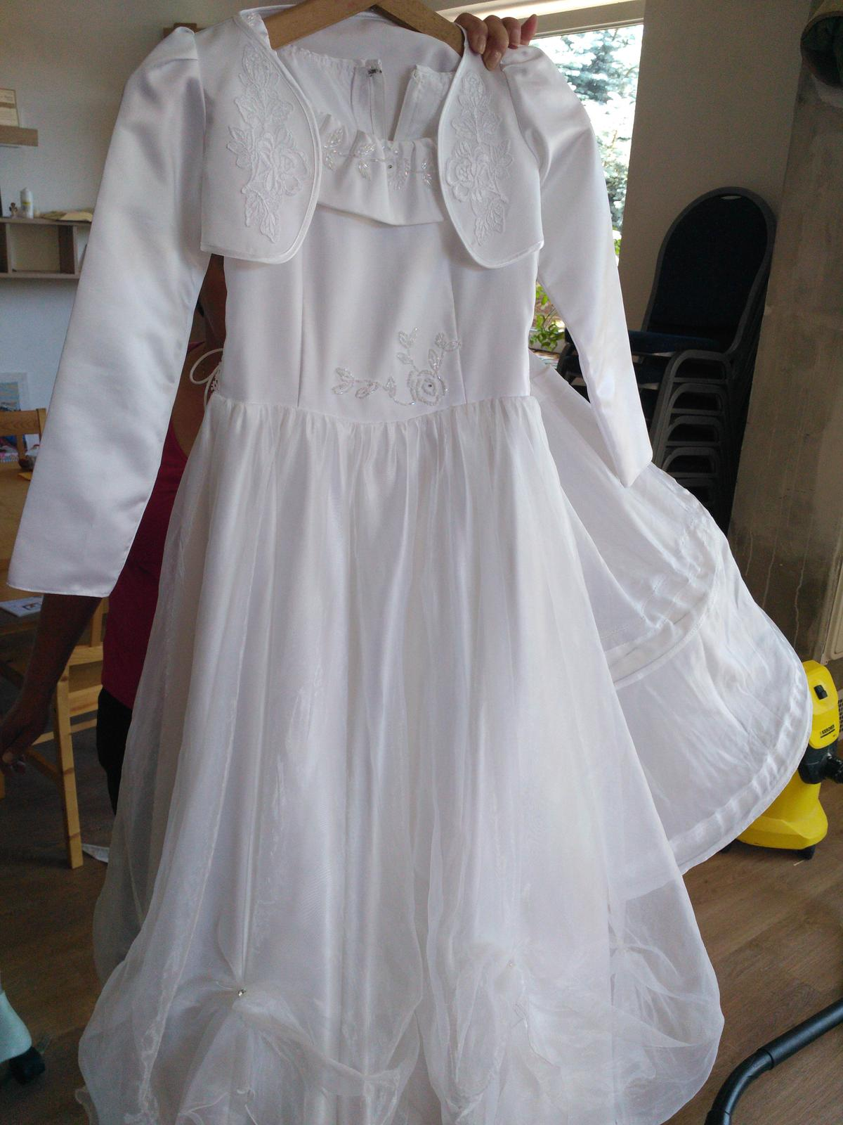 Šaty pre družičku alebo na 1.sv.prijimanie - Obrázok č. 1