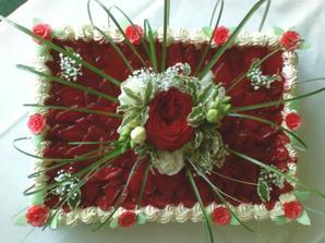 druhý dort jahodový :-)